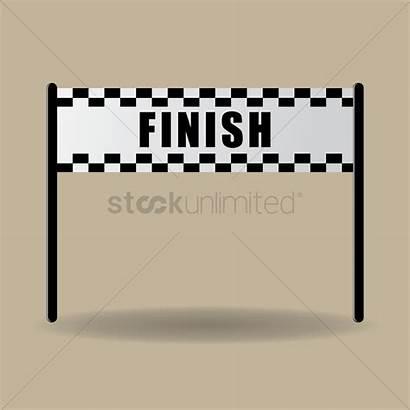 Finish Line Banner Race Starting Clipart Vector