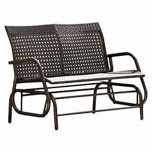 Maui Swinging Wicker Patio Bench Brown Christopher