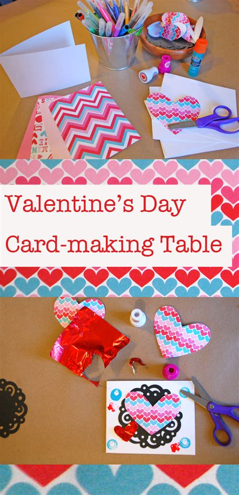 {diy} Valentine's Day Cardmaking Table  Catch My Party