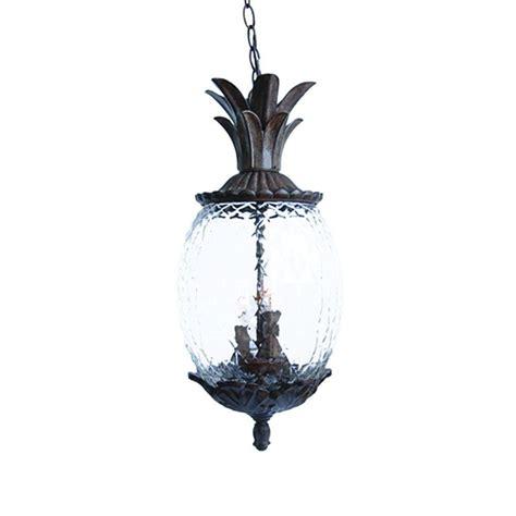 pineapple hanging light fixtures acclaim lighting lanai collection 3 light black coral