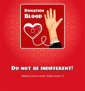 Blood donation poster ~ Graphics on Creative Market