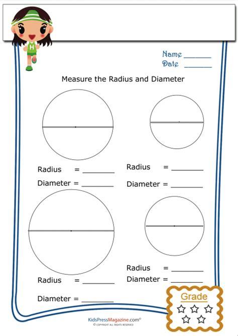 Basic Geometry Worksheet  Radius And Diameter 4 Kidspressmagazinecom