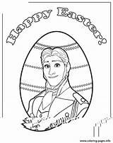 Hans Coloring Frozen Prince Easter Colouring Printable sketch template