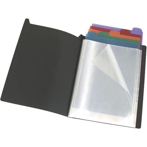 bantex display book  dividers  fixed pages black