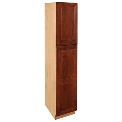 pantry storage cabinets with doors home decorators collection lyndhurst assembled 18 x 84 x