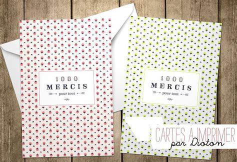 Carte De à Imprimer by Carte De Remerciement 224 Imprimer 20 Cartes De