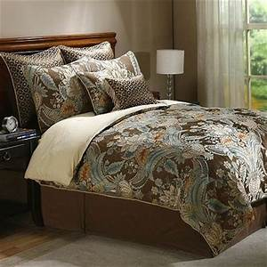paisley bedding - sage and brown Bedroom ideas