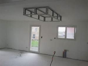 bricolage de l39idee a la realisation plafond descendu With salle de bain design avec plaque métallique décorative