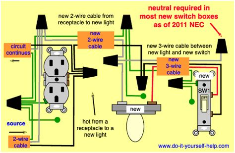 Wiring Diagrams Add New Light Fixture