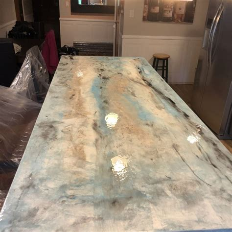 metallic epoxy countertops   home  business