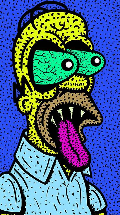 Trippy Psychedelic Simpsons Cartoon Gifs Simpson Homer