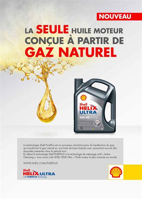 actu shell lance une huile moteur  base de gaz naturel