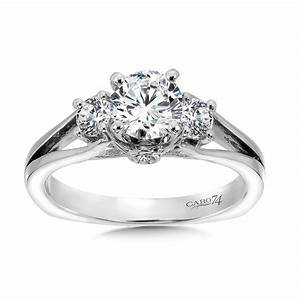caro74 classic elegance diamond three stone engagement With three stone wedding ring