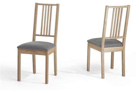 chaises de salle à manger chaises de salle à manger lot de 2 chaises en bois et