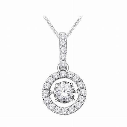 Dancing Diamond Pendant Gold 14k Tw Ct