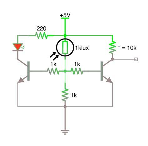 Led Photoresistor Transistor Circuit Electrical