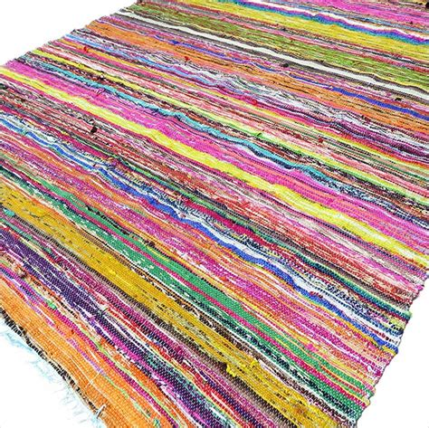 Colorful Throw Rugs by Blue Decorative Colorful Woven Chindi Bohemian Boho Rug