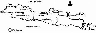 Indonesia Map Java Study Handicrafts Forest Based