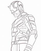 Daredevil sketch template