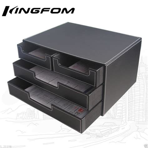 file cabinet file holders 4 drawer 3 layer leather desk file cabinet file tray