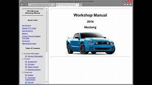 Ford Mustang Mk5  2014    Repair Manual