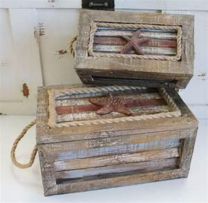 Nautical Wood & Rope Nesting Boxes