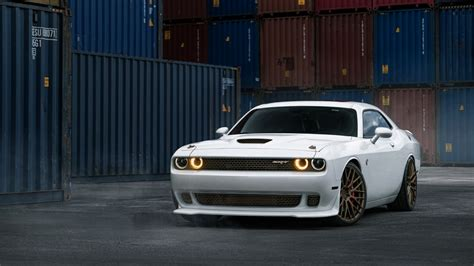 dodge challenger srt hellcat white wallpaper hd car
