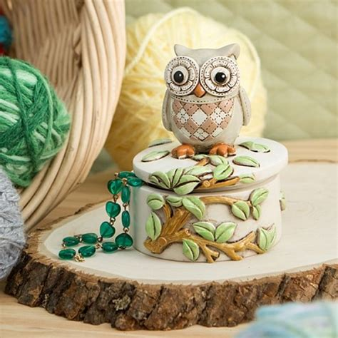Night Owl On A Branch Trinket Box | Owl gifts, Keepsake ...