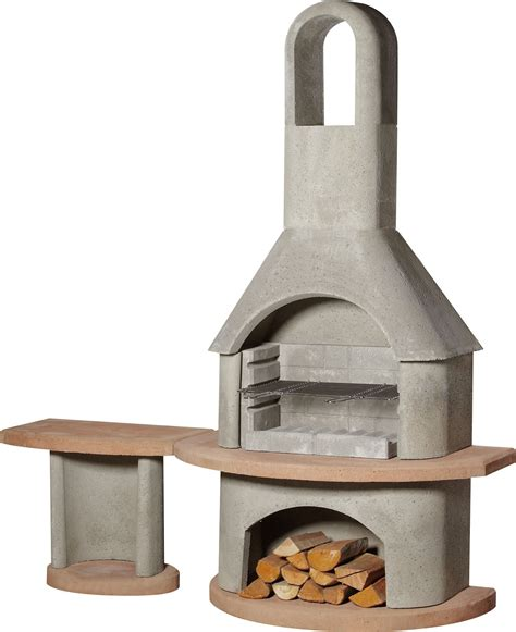 buschbeck carmen bbqfireplace  side table masonry