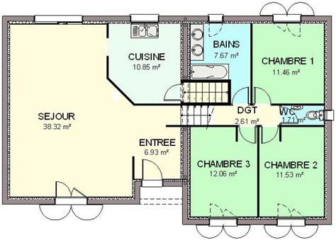 plan maison 4 chambre construction 86 fr gt plan maison demi sous sol