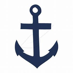 Items similar to Anchor digital stamp clip art in navy and ...