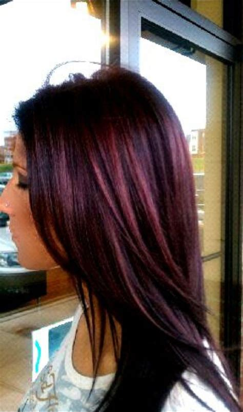Wella Purple Hair Hair And Nails Pinterest Plum Color