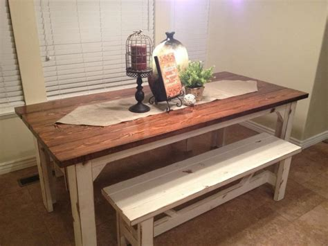 farmhouse kitchen table with bench plans for kitchen island bench home decor takcop