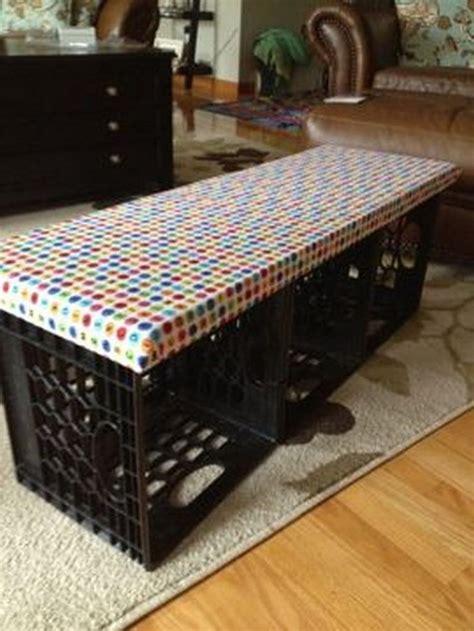 crate furniture bench best 25 milk crate bench ideas on diy storage