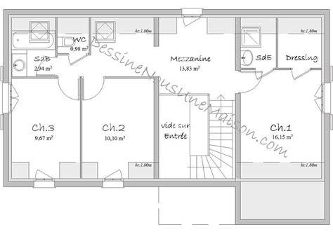 plan maison a etage 3 chambres plan maison etage 3 chambres gratuit kirafes