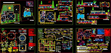 multipurpose hotel  dwg design section  autocad