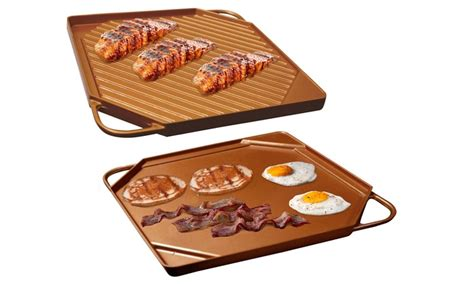 copper griddle  grill pan groupon goods