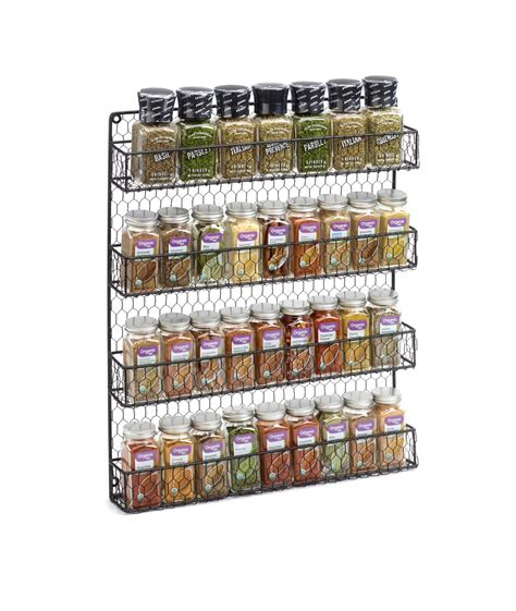 spice rack with spices chicken wire spice rack 1790