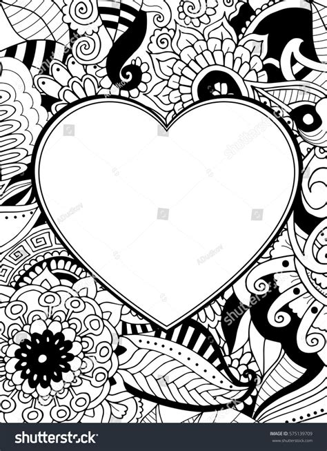 valentines day card background  zentangle floral