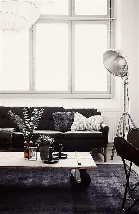 living room white monochrome interior decor pinspiration my warehouse home Industrial
