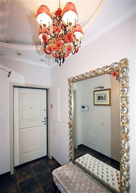large mirror  foyer decorating condo living foyer
