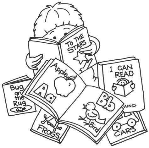 11892 student reading clipart black and white learning books clipart clipground