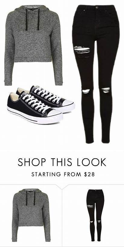 Polyvore Outfits Converse Clothes Teen Casual Wear