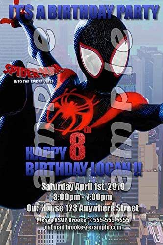 amazoncom spider verse personalized birthday party