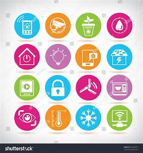 Smart Home Icon : smart home icons home automation system stock vector 223502212 shutterstock ~ Markanthonyermac.com Haus und Dekorationen
