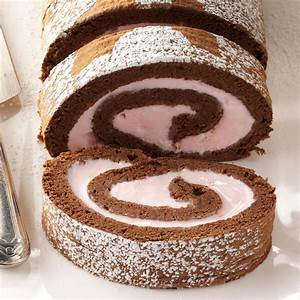 Chocolate & Peppermint Ice Cream Roll Recipe Taste of Home