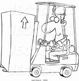 Forklift Cartoon Moving Coloring Operator Vector Outline Fork Lift Drawing Getdrawings Leishman Ron sketch template