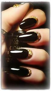 Elegant Black Gold nail art ⊱╮ | Lips and nails | Pinterest