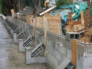Faire Un Mur De Cloture : cr ation d 39 un mur de sout nement enceintes diy et ~ Premium-room.com Idées de Décoration