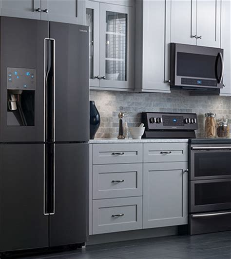 black kitchen cabinets with stainless steel appliances black stainless steel appliances 9767